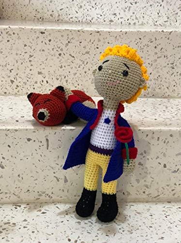 El Principito y el Zorro Peluches 100% Hechos a Mano en Mexico Tecnica Crochet
