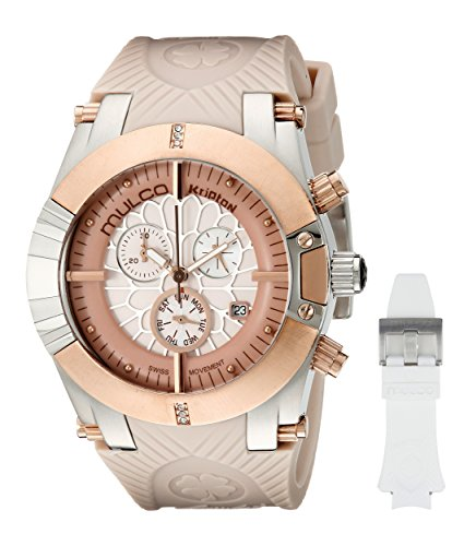 MULCO Women's Kripton Snap Swiss Analog Display Quartz Watch - Multifunctional with Silicone Band (B - http://coolthings.us