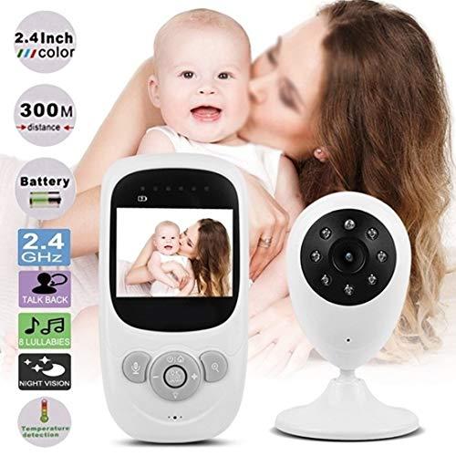 1080P 2,4-Zoll-Farb-Babyphone mit Zwei-Wege-Audio-Temperaturanzeige, eingebautem Schlaflied und Nachtsicht-Unterstützung