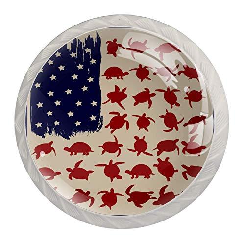 Türknauf mit amerikanischer Flagge, für Schrank, Kommode, Schublade, Glasgriff, für Schranktür, Kleiderschrank, Schrank