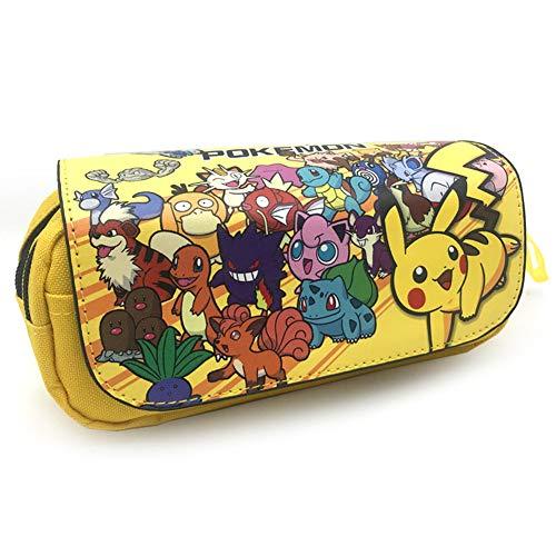 Pokemon Mäppchen, NALCY Pikachu Mäppchen, 3D Bleistiftkoffer, Bleistiftbeutel Kosmetiktaschen, 3D-Druck Federmäppchen, Große Kapazität Bleistift Tasche Stiftbeutel Durable Studenten Schreibwaren