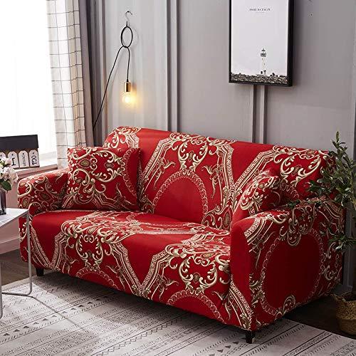 WXQY 24 Colores para Elegir Funda de sofá Asiento elástico Fundas de sofá loveseat sillón funiture Fundas sofá Toalla 1/2/3/4 plazas A11 4 plazas