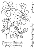 Woodware klar Magic Singles-Summer Meadow, 21x 11x 0,6cm -