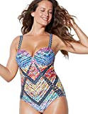 Swimsuits for All Women's Plus Size Rainbow Underwire One Piece Swimsuit 18 Multi from swimsuitsforall