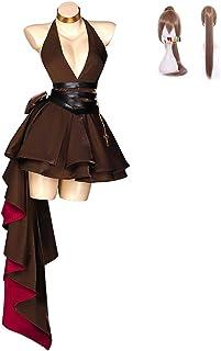 「ExFun」 アズールレーン ジャン?バール コスプレ アズレン 不羈なブラッドストーン 衣装 ドレス レディース ウィッグ追加可能 (服装, S)