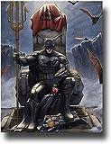 SSKJTC Batman Vaincre la Justice League Nature morte Art mural sur toile pour décoration de la maison pour salon bureau Palette 61 x 91,4 cm