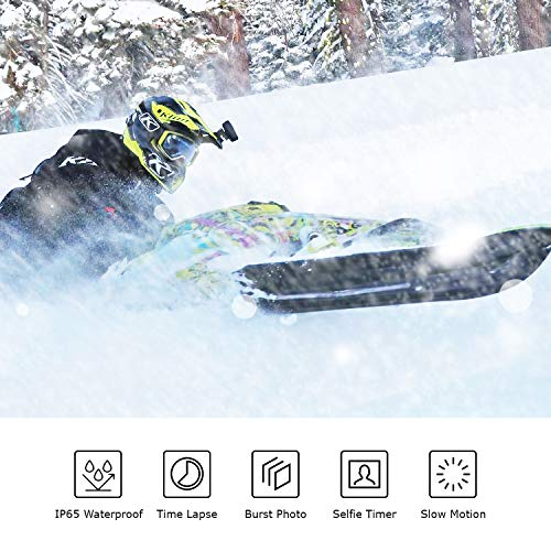 REXING A1 Two Way Action Camera Front & Back 1080p@30fps w/WiFi/Wide Angle/Wrist Remote Control/Waterproof Extreme Sports Camcorder for Motorcycles/Bicycle/Sport Bike/Hiking/Cars
