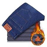 Pantalones Jeans Pantalones Vaqueros De Lana De Invierno para Hombre Estiramiento Forrado De...