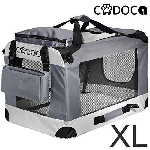 Deuba CADOCA Hundetransportbox faltbar Katzentransportbox Tier Transport Tierbox Größe XL