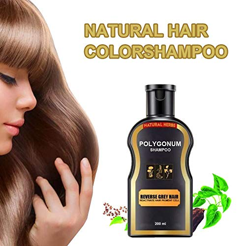 Natural Darkening Shampoo for Reverse Gray & White Hair - Gentle Non-Irritating Ginger Coloring...