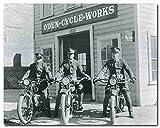 Wanddekoration, Vintage-Poster Reno Police Motorrad Oden