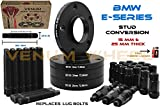 (2) 15mm + (2) 25 mm Black Wheel Spacers Staggered Kit + Black 12x1.5 Racing Stud & Racing Lug Nuts Free Thread Locket Included | Compatible with BMW 323ci, 323i, 325ci, 325i, 325xi, 3328ci, 328i, 330