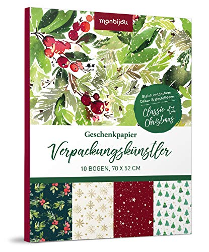Verpackungskünstler - Classic Christmas: 10 Bogen Geschenkpapier