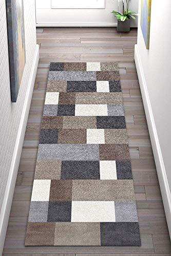 Korridor Teppich- Geometrische Flur Läufer Teppich, rutschfeste, Breite 60cm / 80cm / 100cm / 120cm erhältlich, Länge Anpassbare for Corridor (Size : 80×200cm)