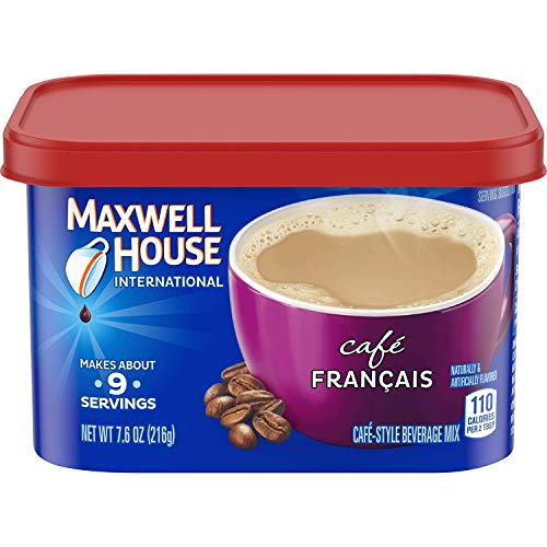 Maxwell House International Cafe Francais Style Instant Coffee (7.6 oz Canisters, Pack of 4), 1 Pack of 4