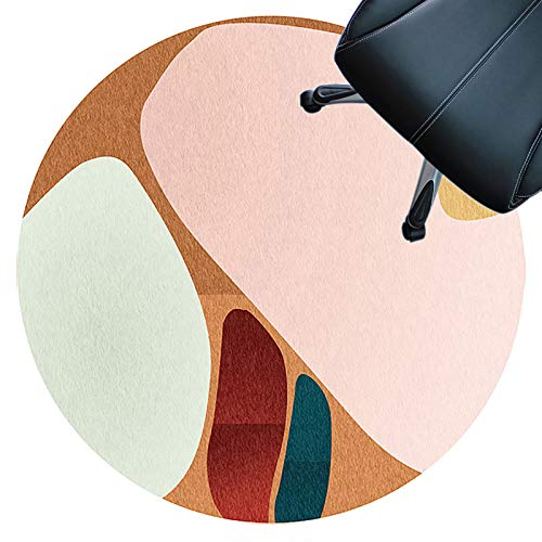 alfombra protectora silla oficina Alfombrilla Redonda Para Silla Protector De Suelo Para Escritorios Oficina Y Hogar Antideslizante Silencioso Resistente Al Desgaste Fácil De Limpi(Size:180cm,Color:B)