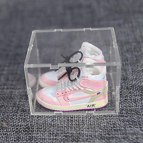 ahjs456 AJ Schlüsselbund Schlüsselanhänger Tasche Anhänger Jordan Basketballschuhe DIY kreatives Paar Acryl 3D Stereo Schuhmodell 11