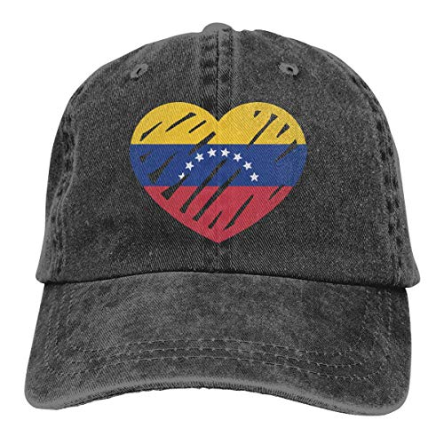 N/A Ocio Sombrero,Dad Hat,Sombrero De Deporte,Sombrero De Sol,Sombreros Sombrilla Al,Love Flag of Venezuela Denim Jeanet Gorra De Béisbol Ajustable Dad Hat