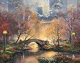 Cwanmh Art Print-Autumn Central Park-Reproducción China Arte de Pintura al óleo China Vertical