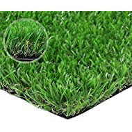 Artificial lawn Artificial 12in x 16in Synthetic Turf Fake Grass Indoor Outdoor Landscape Pet Dog Area, 12'' x 16'', Green