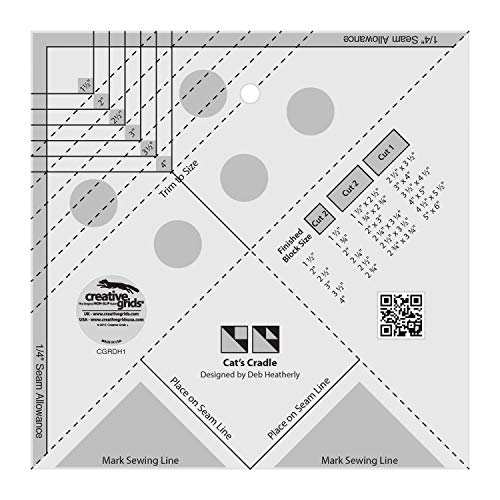 Creative Grids Cat's Cradle Tool Quilting Ruler Template cgrDH1