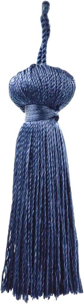 Ranking TOP10 DÉCOPRO Regular discount Dark Navy Blue Petite Key inches Long 3 Tassel