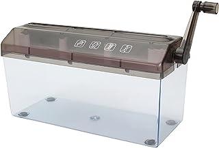 Mini Shredder Manual Shredder Documents Cutting Tool for Office Home Desktop Stationery Particle Cut Shredder,Brown