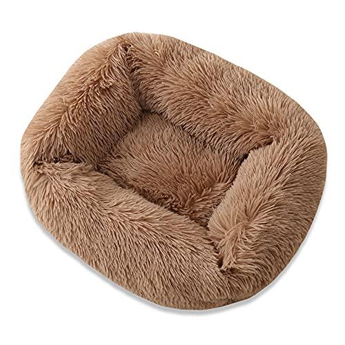 Cama para mascotas mullida y cuadrada para mascotas, cama para gatos, cama para perro, lavable, felpa, felpa, felpa, felpa, felpa, felpa, felpa, felpa, felpa, para perros