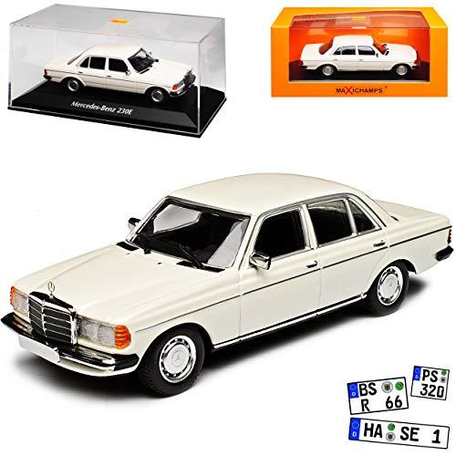 Minichamps Mercedes-Benz W123 230E E-Klasse Limousine Weiss 1975-1986 1/43 Maxichamps Modell Auto
