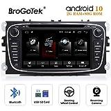 Radio Android 10.0 de Coche Autoradio CD para Ford Mondeo Focus Kuga Galaxy 7 Pulgadas 2 DIN Estéreo con navegación GPS Reproductor de DVD Video Bluetooth Pantalla táctil WiFi 80GB ROM