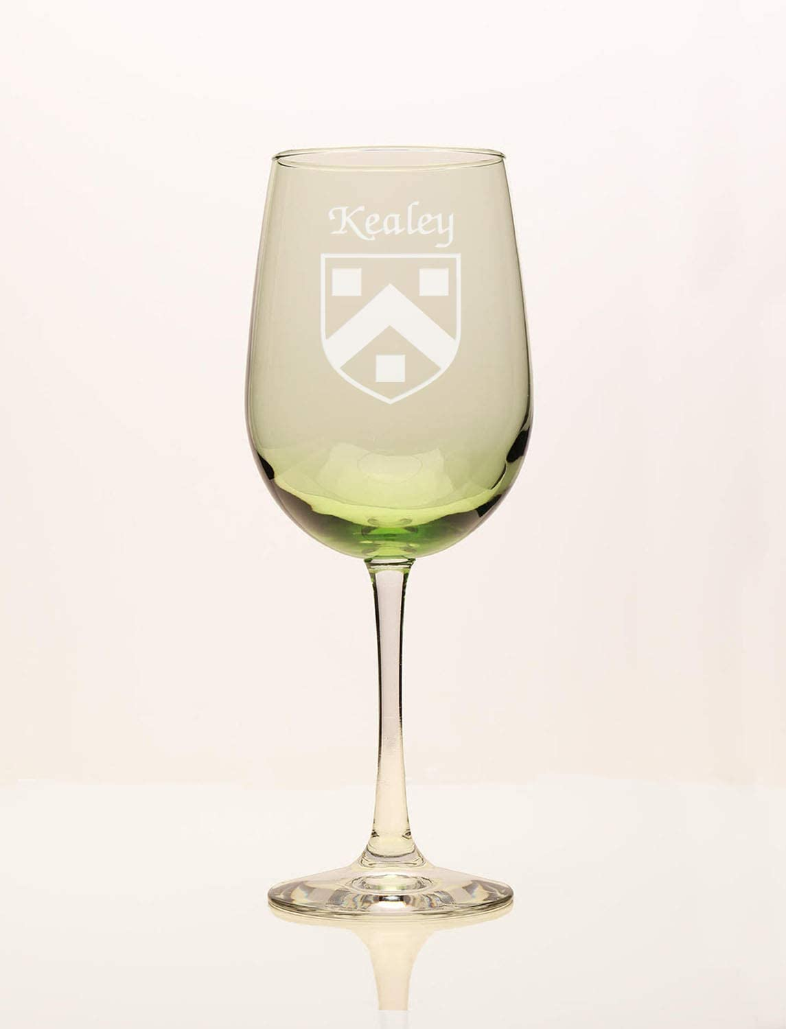 Kealey Irish Attention brand Sale Coat of Arms Glass Green Wine