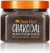 Tree Hut Charcoal Black Sugar Scrub, 18oz, Ultra Hydrating and Exfoliating Scrub for Nourishing Essential Body Care