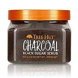 Tree Hut Charcoal Black Sugar Scrub, 18oz, Ultra Hydrating and Exfoliating Scrub for Nourishing...