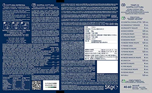 Barilla Weizen Pasta Maccheroni n. 44, Italienische Teigwaren, 1er Pack (1 x 5kg) - 3