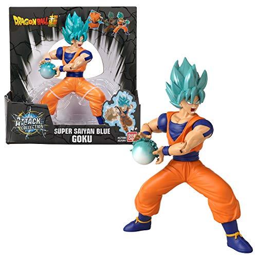 Bandai-37091 Bandai- Dragon Ball Super-Figurine à Fonction Kamehameha 17 cm-Goku Qui Lance Son attaque/missile-37091J, 37091J, Blanc