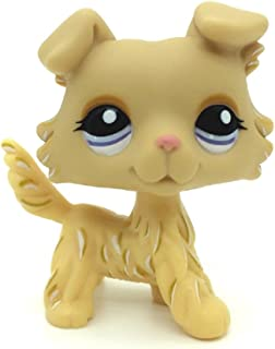 Littlest Pet Shop Collection LPS Toys Animals Tan Golden Collie Dog Very Rare