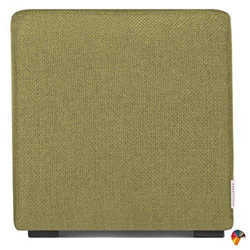 Arketicom Pouf Cube Vert en Polyurethane Haute Densite` Dimensions 55 x 55 x 45h cm (puf Puff pouff pouffe)