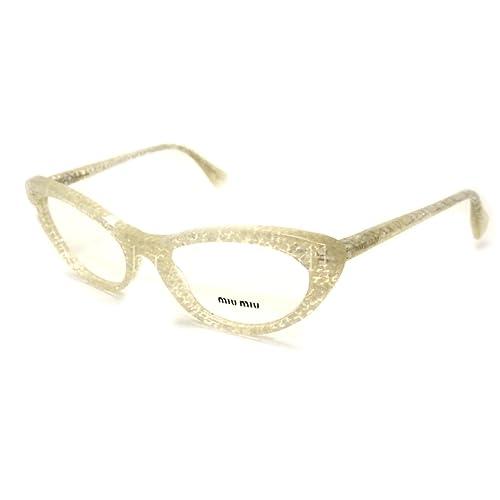 141da6953261 Miu Miu MU03LV Eyeglasses-KAR 1O1 Transparent Glitter Silver-52mm