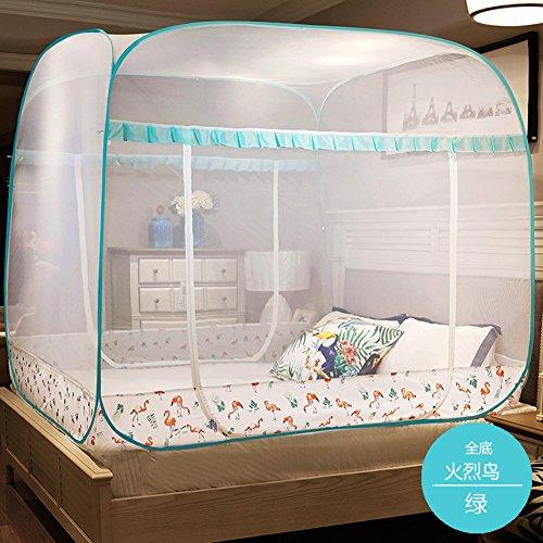 Pliage tente de mosquito net château, Ciel de lit double zip face de maison pour les enfants-B King