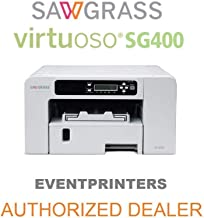 SAWGRASS VIRTUOSO SG400 sublimation printer. BUNDLE with complete set of Sawgrass Sublijet HD inks - and 110 SHEETS of our exclusive sublimation paper