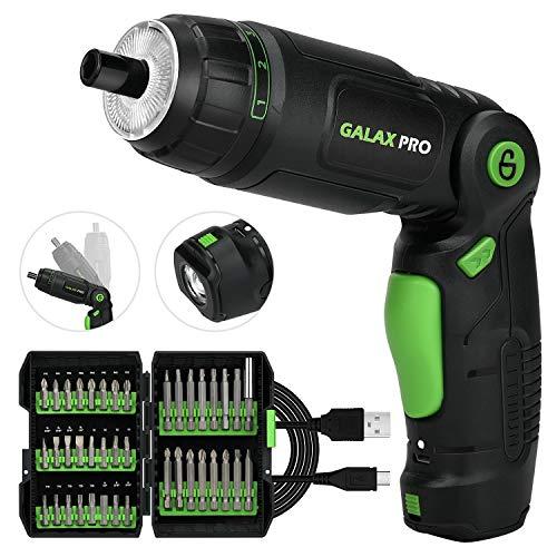 GALAX PRO Tournevis sans Fil, Visseuse Rechargeable sans fil 3.6V, 2,0Ah Lithium Ion Batterie, 3...