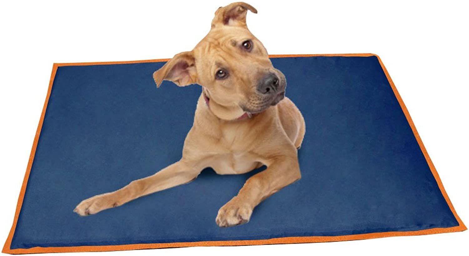 ABO Gear 24 by 42Inch Pet Cooling Bed, Large, Navy orange