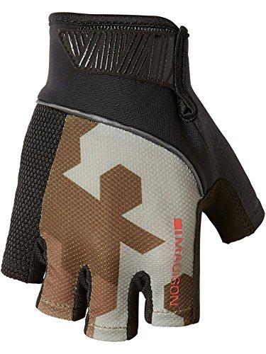 Madison Sportive Gants pour Homme Motif Camouflage Hexagonal Vert Olive/Noir Taille S