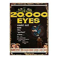 20,000 Eyes Movie ティンサイン ポスター ン サイン プレート ブリキ看板 ホーム バーために