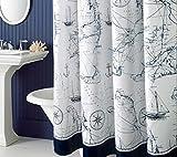 ZXLIFE@Preuve de Rouille et imperméable à l'Eau Lavable imprimé Rideau de Douche Tissu Polyester pour Salle de Bain 72 Pouces par 78 Pouces Salle de Bain Douche Rideau - Style