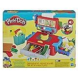 Play-Doh Caja registradora de Juguete para niños de 3 años en adelante con Divertidos Sonidos, Accesorios de Comida y 4 Colores no tóxicos (Hasbro 0)