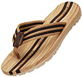 Infradito Uomo Donna Sandali Flip Flops Pantofole Ciabatte da Mare per Spiaggia e Piscina Estate Scarpe da Casa, Marrone, 43 EU