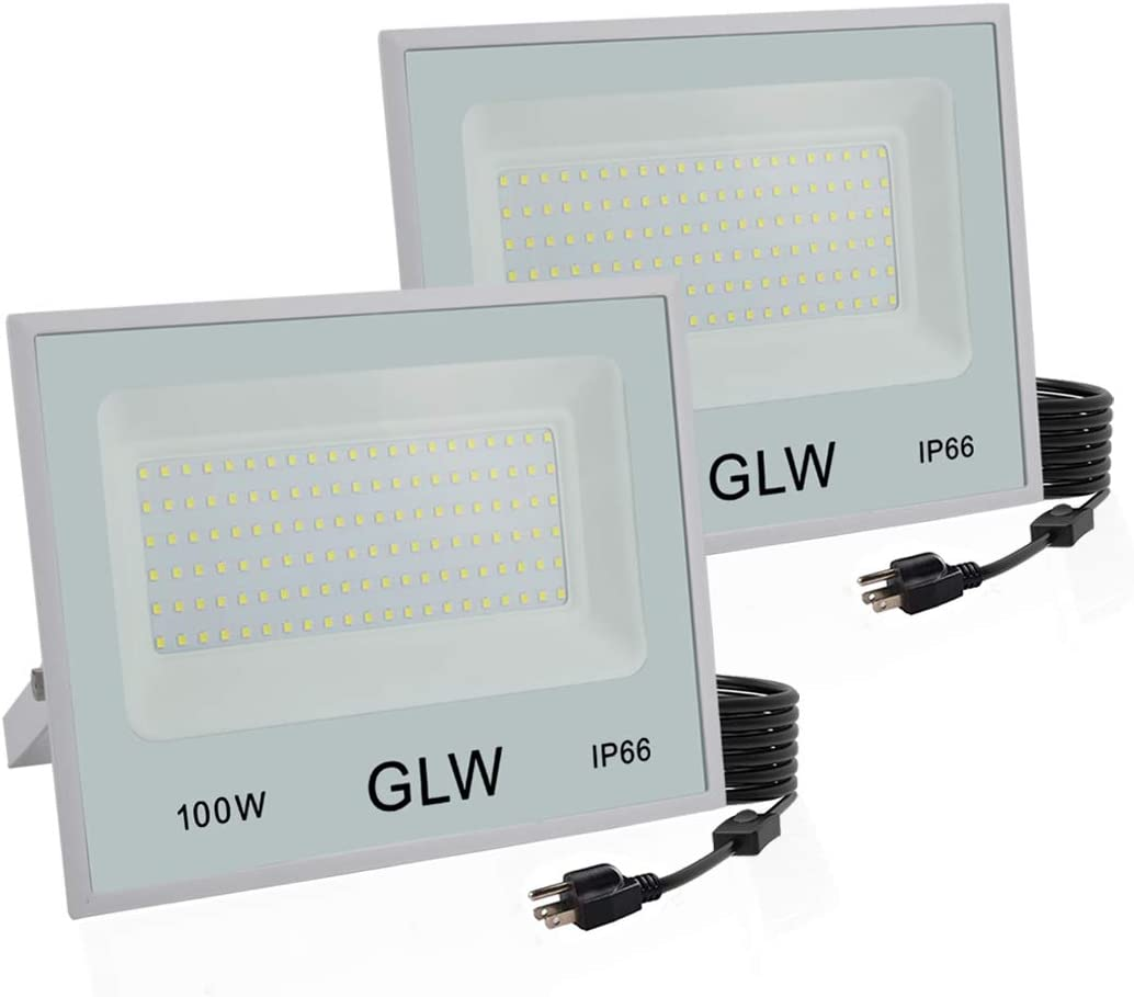 GLW 100W LED Flood Max 46% OFF Lights Outdoor Security 6 Large-scale sale Bright Super
