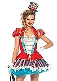 LEG AVENUE 2pezzi ottima finitura di Ring Master Set, Donna Carnevale Costume Di Carnevale