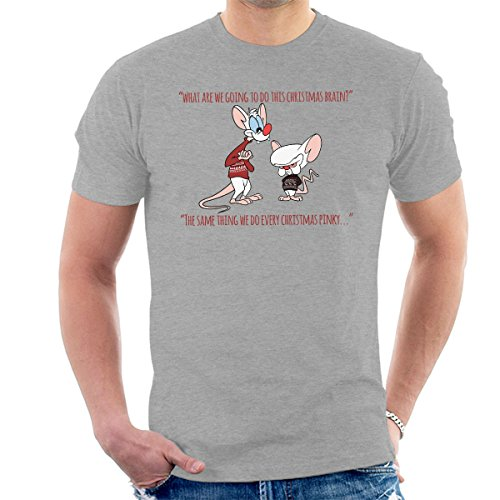 Cloud City 7 Pinky and The Brain Christmas Plans Men's T-Shirt